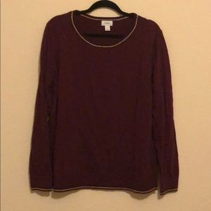 Old Navy Burgundy Top with Gold Trim
